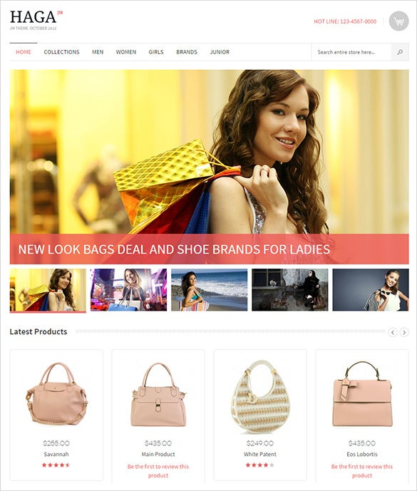 magento them for online fashion store