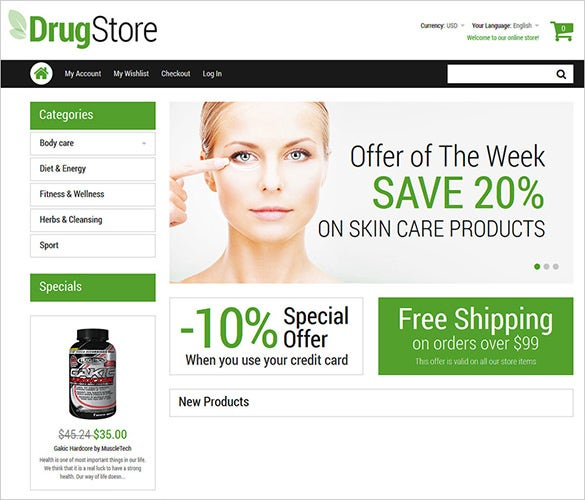 drugstore magento them