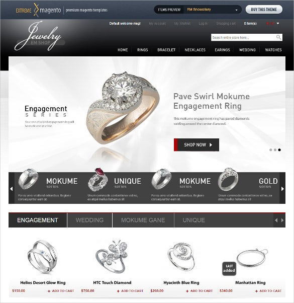 fashion jewelery store theme