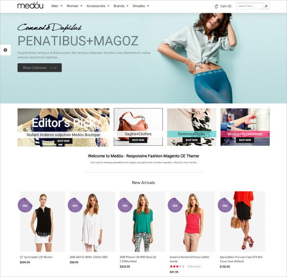 fashion accessories store magento theme
