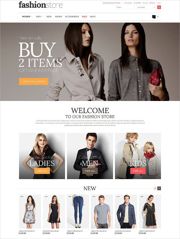 clean fasshion store magento theme
