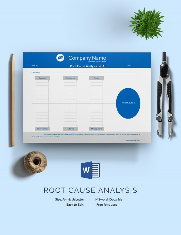 A4 Root Cause Analysis Template