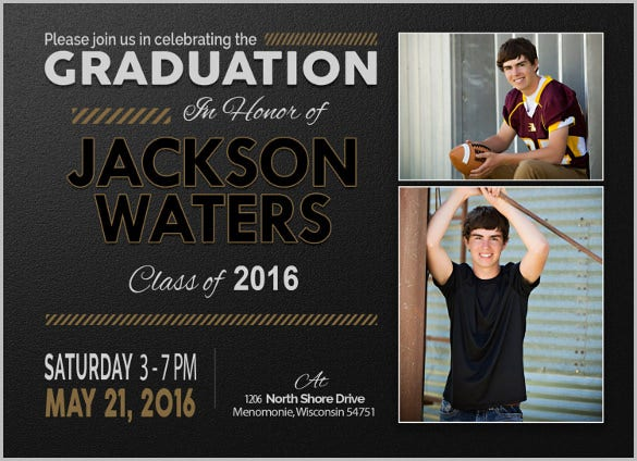 15+ graduation invitation templates - invitation templates | free, Invitation templates