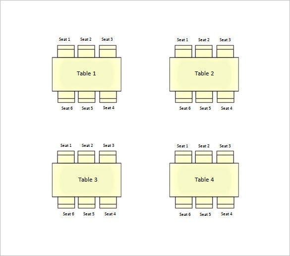 square wedding seating chart word free download