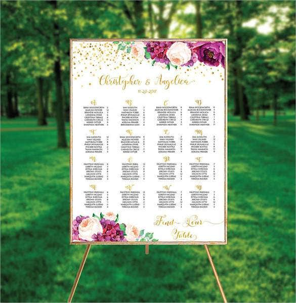 wedding seating chart alphabetical order1