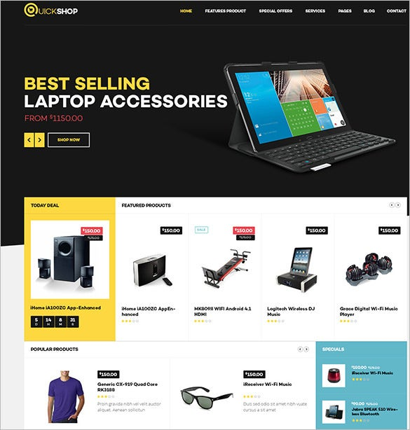 prestashop templat for quickshop