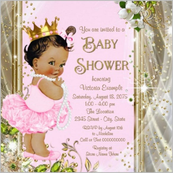 Girl Baby Shower Invitation Template  Baby Shower Invitation Templates For Microsoft Word