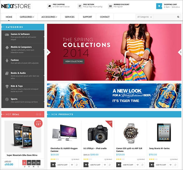 online shopping prestashop templat