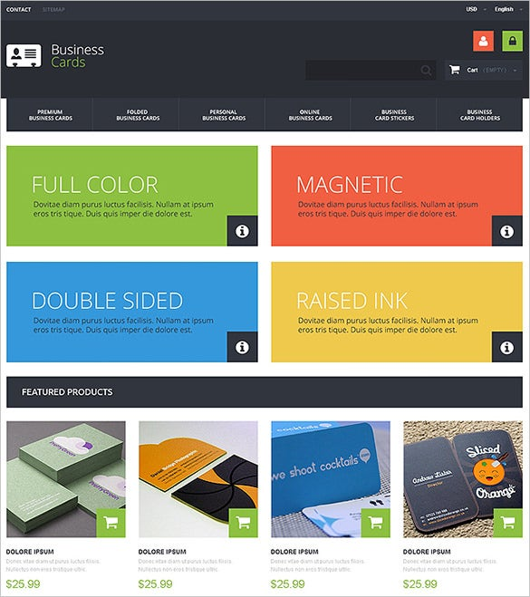 business cards store prestashop theme1
