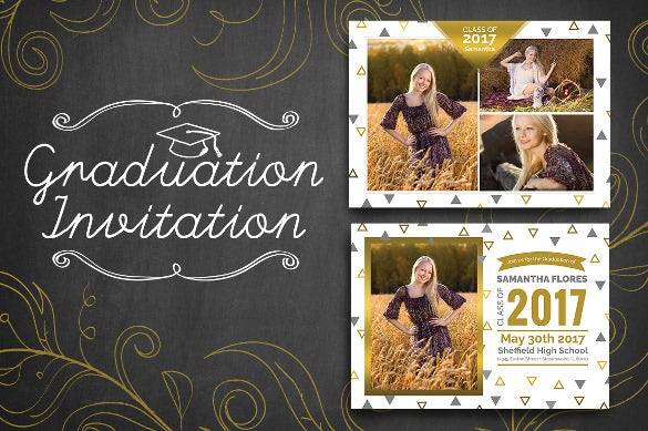 dark graduation invitation for girl