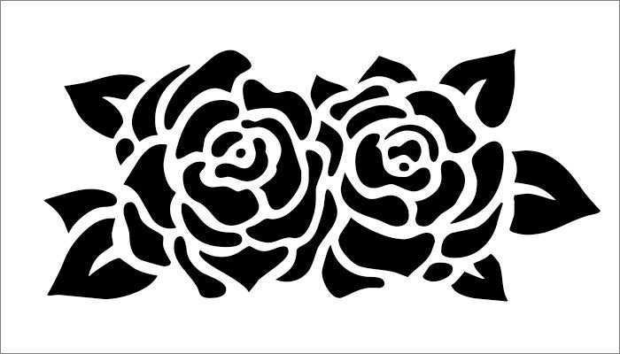 2 rose free flower template