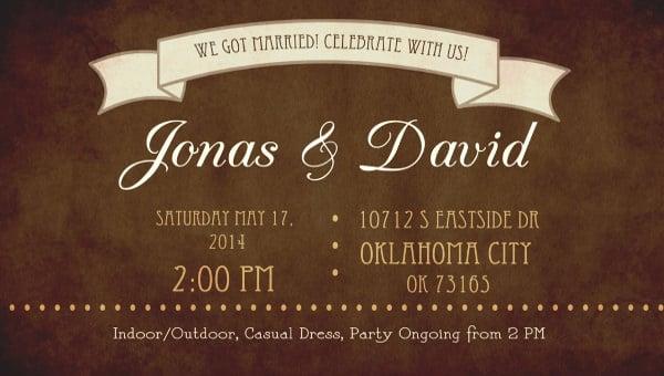 guy wedding invitation