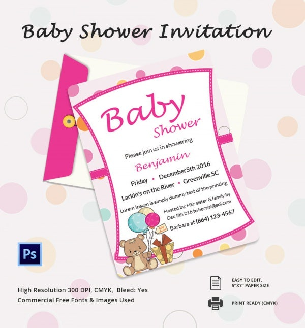 baby shower invitation template 22 free psd vector eps ai format download free premium. Black Bedroom Furniture Sets. Home Design Ideas