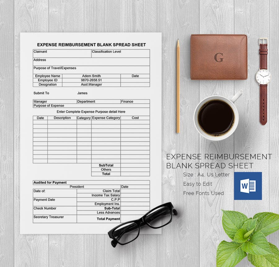 Blank Spreadsheet Template - 21+ Free Word, Excel, PDF Documents ...