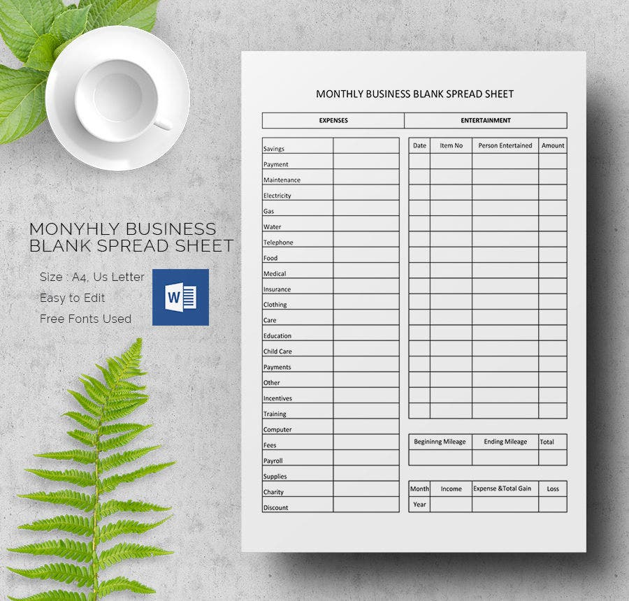 blank spreadsheet template 21 free word excel pdf documents