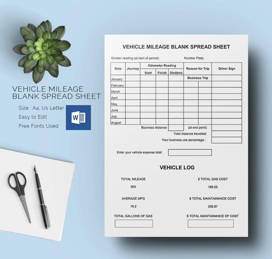 Blank Spreadsheet Template
