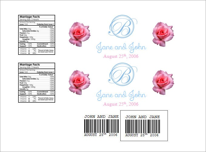 free water bottle label template in word pdf format