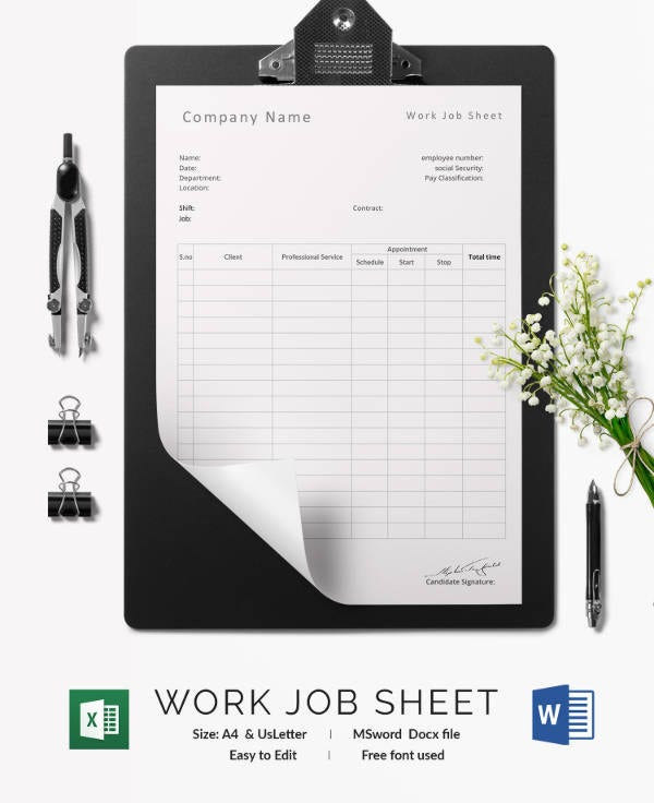 Job Sheet Templates