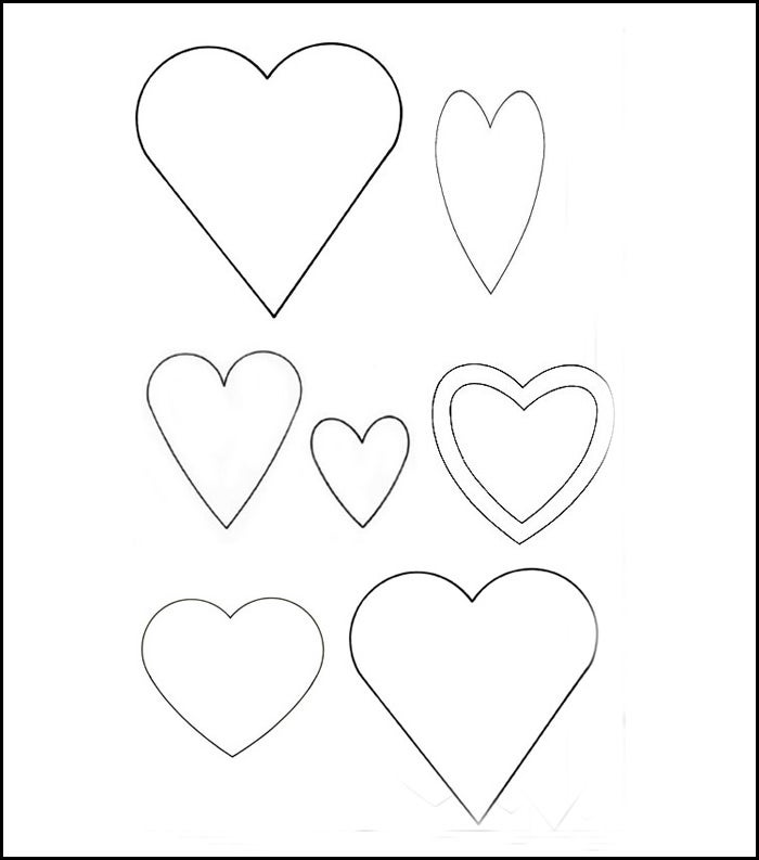 25 heart template printable heart templates free for Small heart template to print