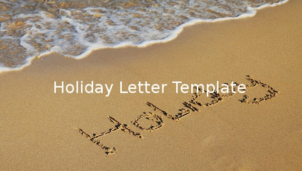 holidaylettertemplate