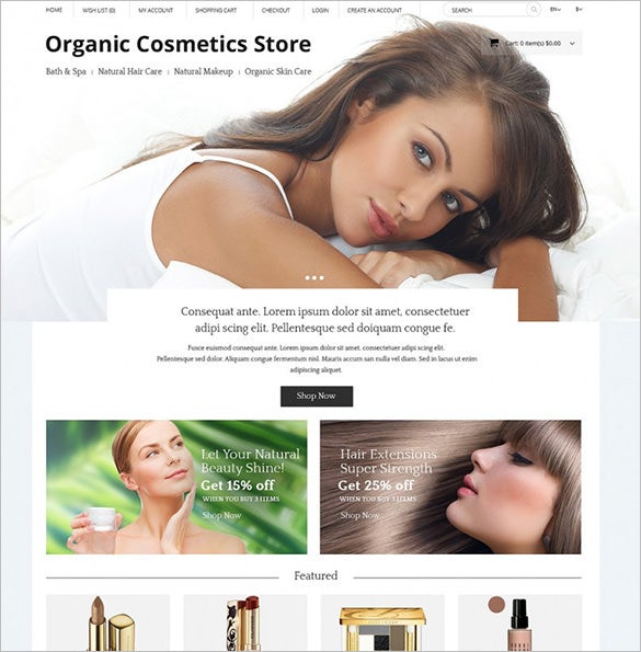 cosmetics store opencart template1