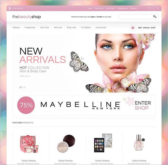 cosmetics beauty shop opencart template