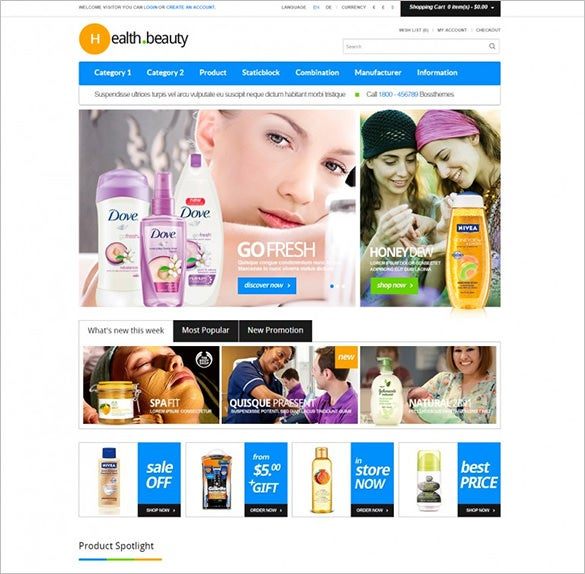 healthy beauty responsive opencart theme1