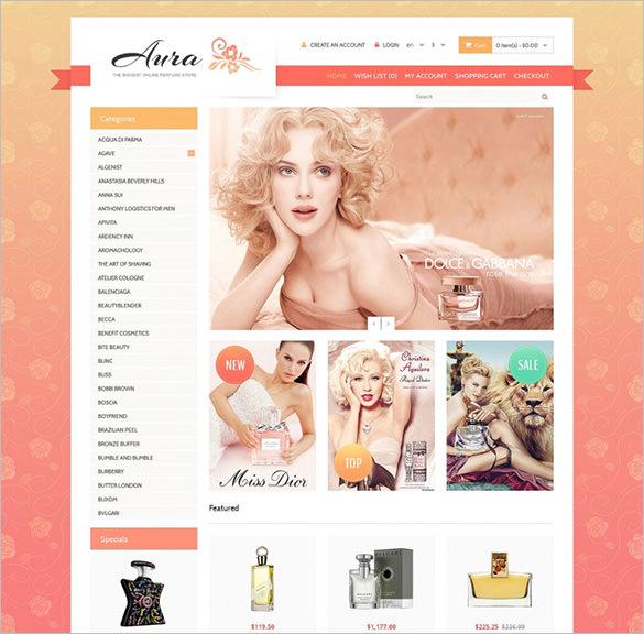 cosmetics store responsive opencart theme1