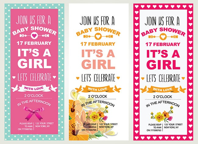 3 baby shower invitations 2