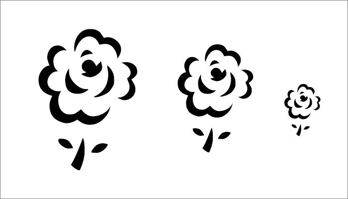 3 rose free flower template