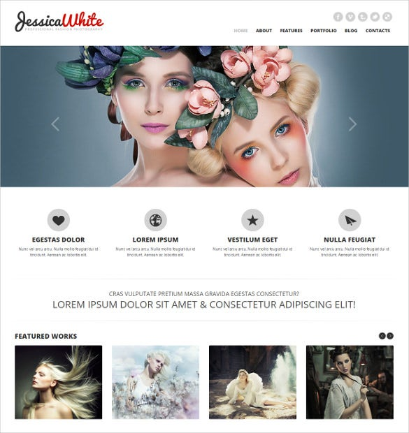 responsive html5 photographer website template