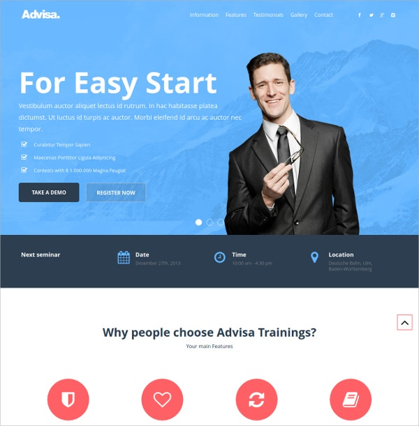 Marketing Landing Sales Page WordPress Theme $12