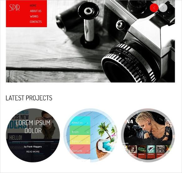 free html5 theme for photographer portfolio