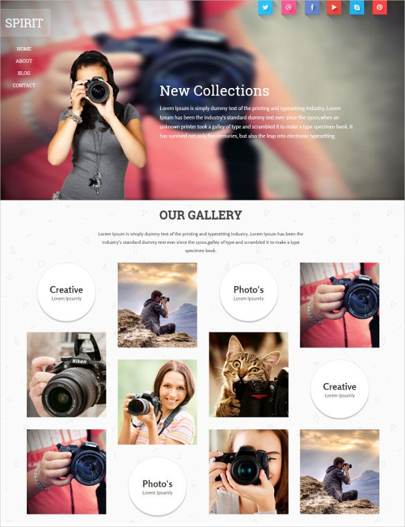 32+ Free & Premium Photography Website Themes & Templates | Free ...
