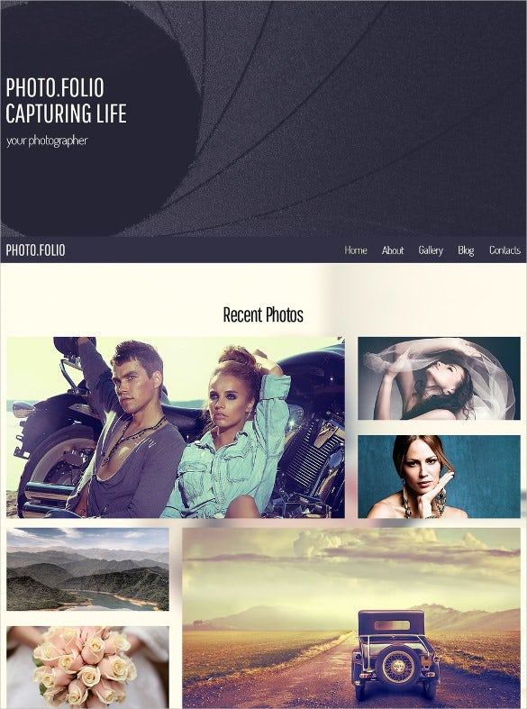 free responsive html5 theme for photographers