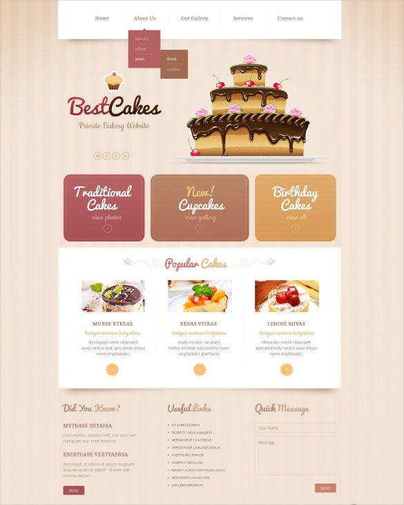 bakery responsive website template11