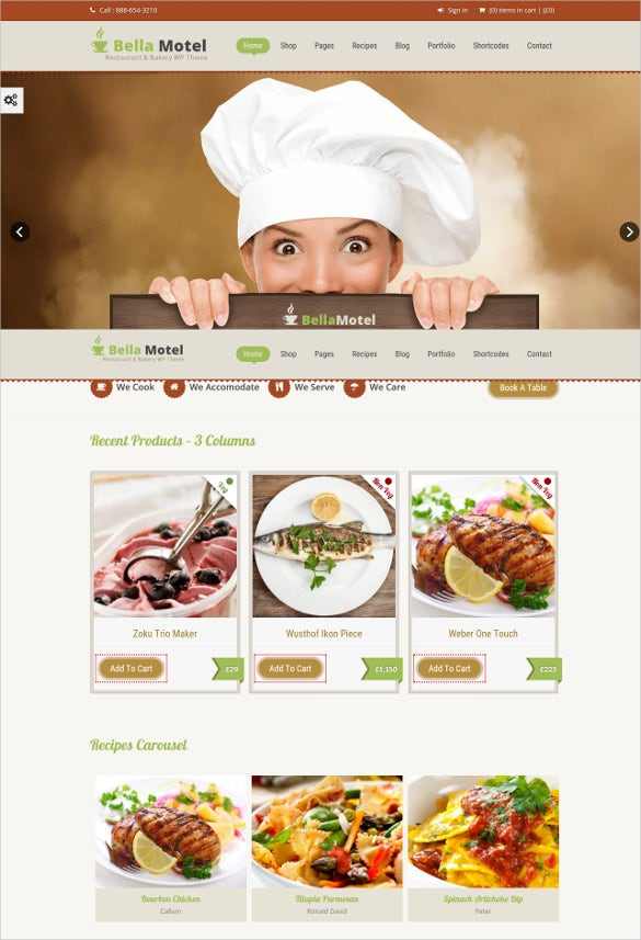 restaurant bakery wordpress theme1