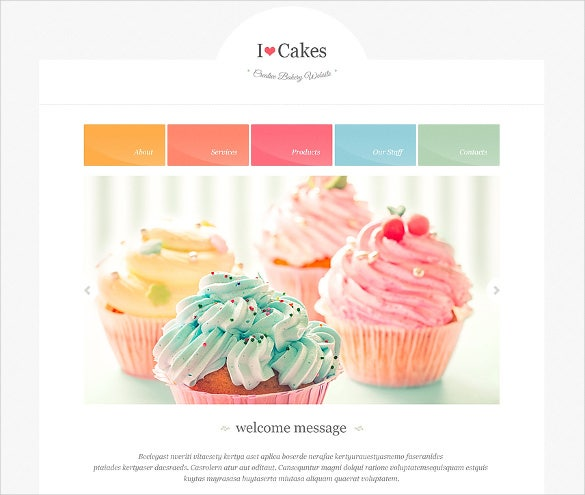 bakery responsive html website template