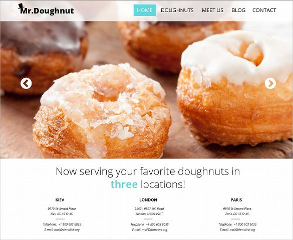 bakery responsive website template3