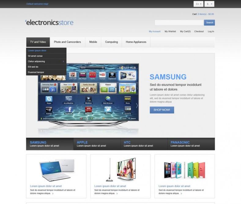 Electronics Store Magento Theme
