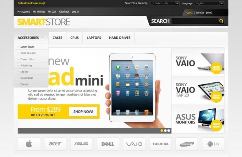 Electronics Smart Store Magento Theme