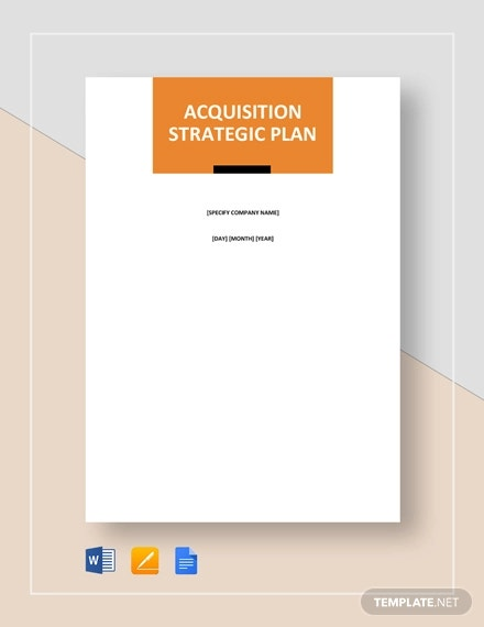 acquisition strategy plan template