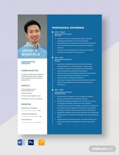 administrative executive resume template