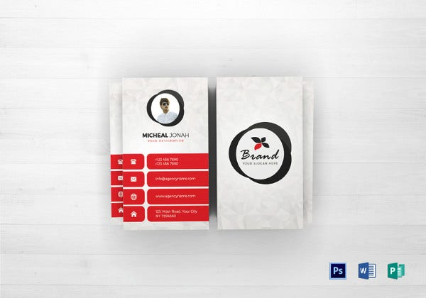 agency business card template in psd