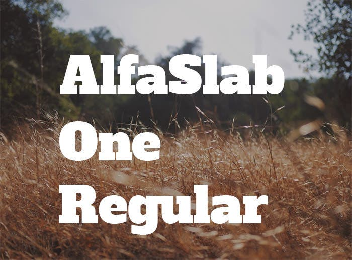 AlfaSlabOne-Regular