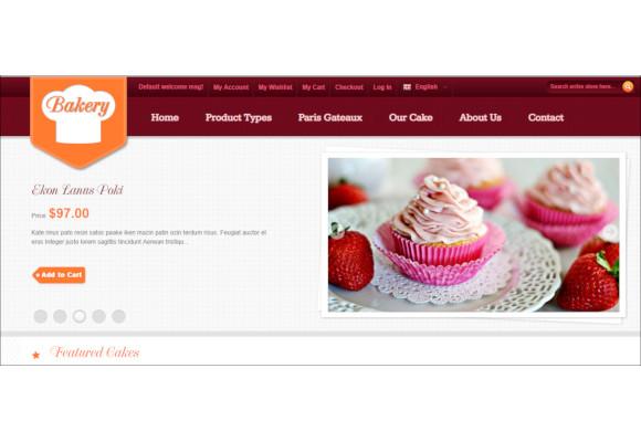 amazing bakery elegant magento theme