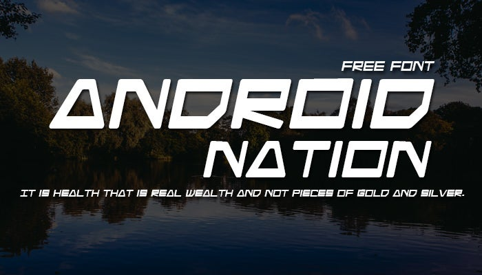 android nation font free download