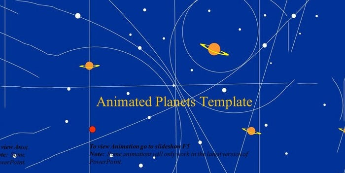 animated planets powerpoint template