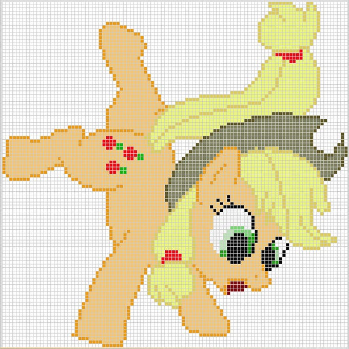 applejack pixel template