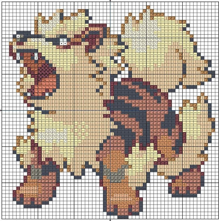 arcanine minecraft pixel art templates1